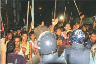 চট্টগ্রামে হিন্দু জেলে পাড়ার উপর মুসলমানদের সাম্প্রদায়িক আক্রমণ