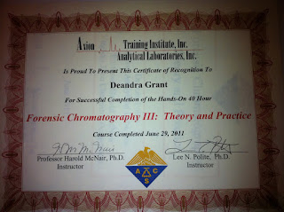Forensence Chromatography Training Certification