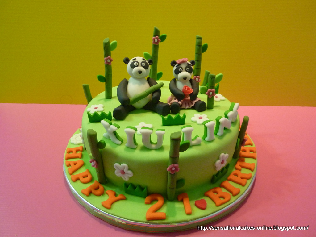 The Sensational Cakes 3d Panda Theme Cake For Xiu Ling Singapore