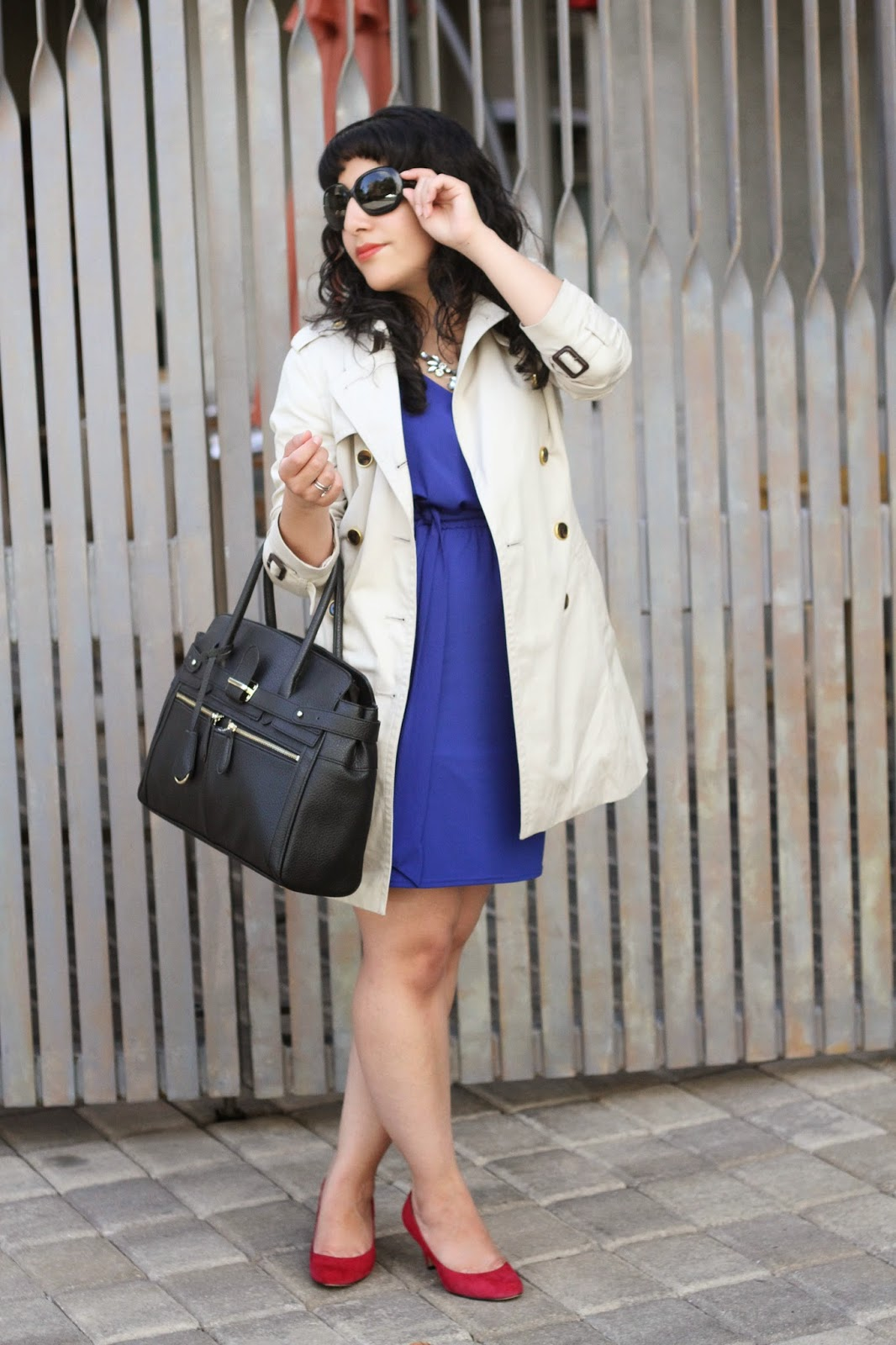 Trench Coat and Dress