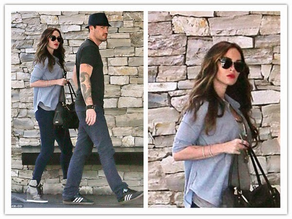 Zoom - In .LA Lovers Lunch of Pregnant Megan Fox and Brian Austin Green