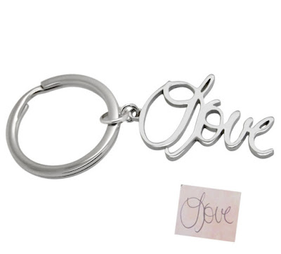 Love Handwriting Keychain by Anastasia Savenko