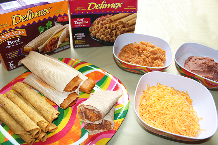 Delimex tamales and taquitos