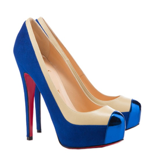 Amazing blue lined high heel sandals