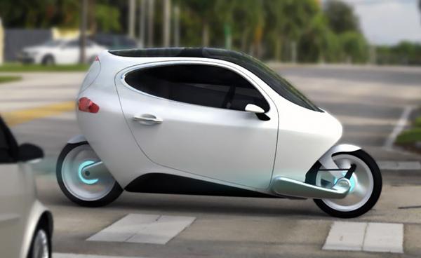 تصميم سيارة صغيرة تعمل بالكهرباء بعجلتين فقط بإتزان عالى الطريق