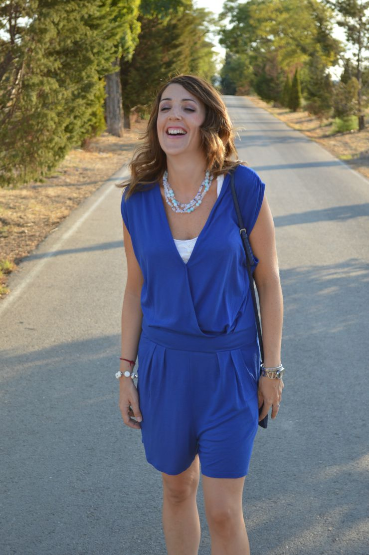 #LOOK. BLUE JUMPSUIT