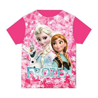 Baju Anak Karakter Frozen Pink Dream Kids Size 2 - 12 Tahun
