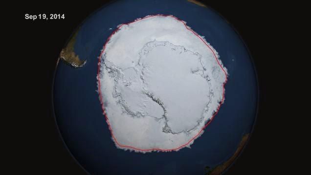 Incremento del hielo en la Antártida