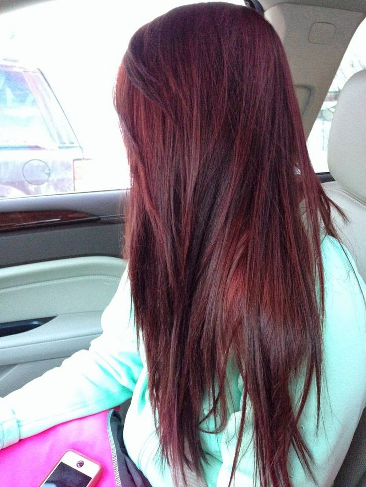 Dark brown red hair color