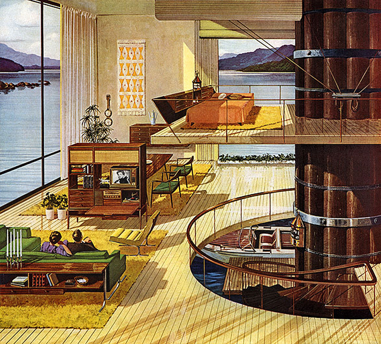 Pauline 39 s pirates privateers booty a pirate hideaway for 1950s modern house design