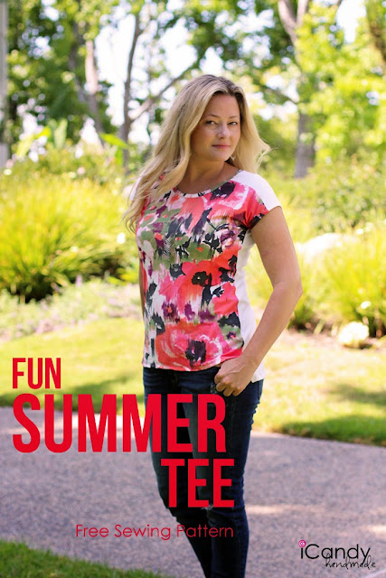 Sewing Pattern for Knit Summer T-Shirt