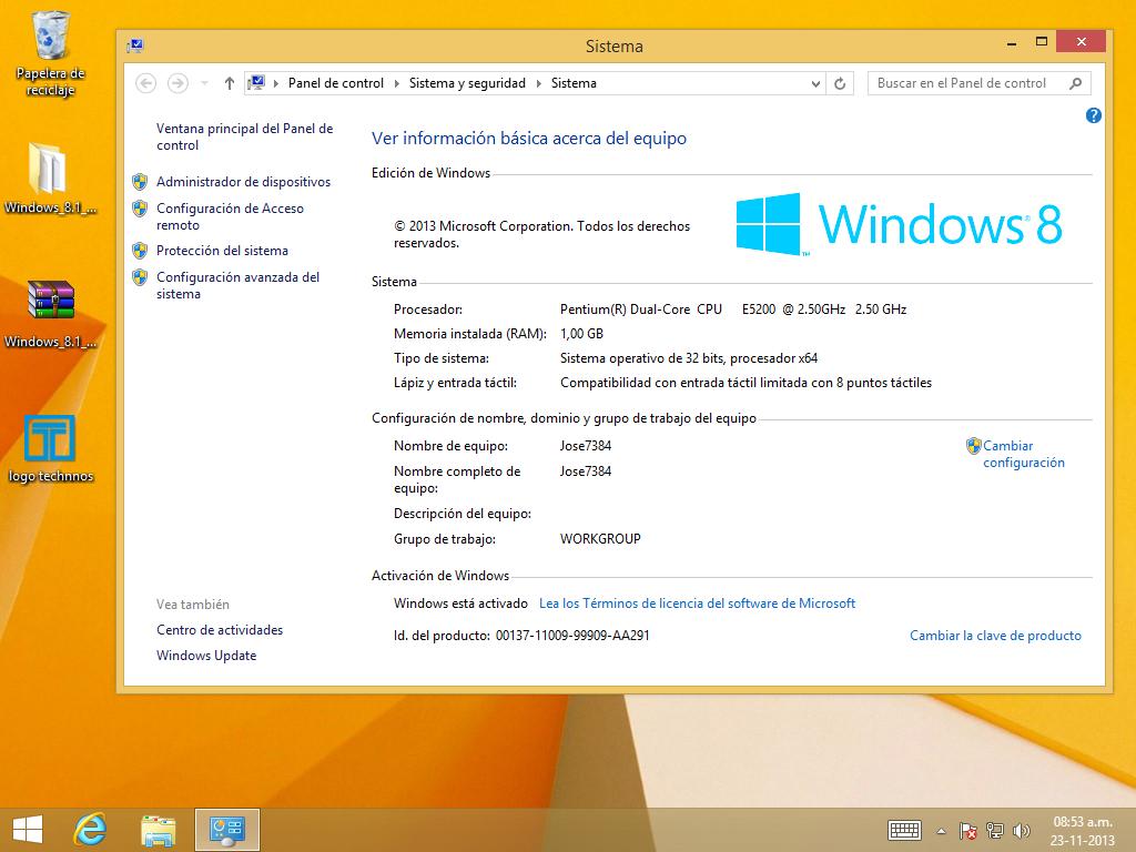 clave de windows 8.1 pro 32 bits
