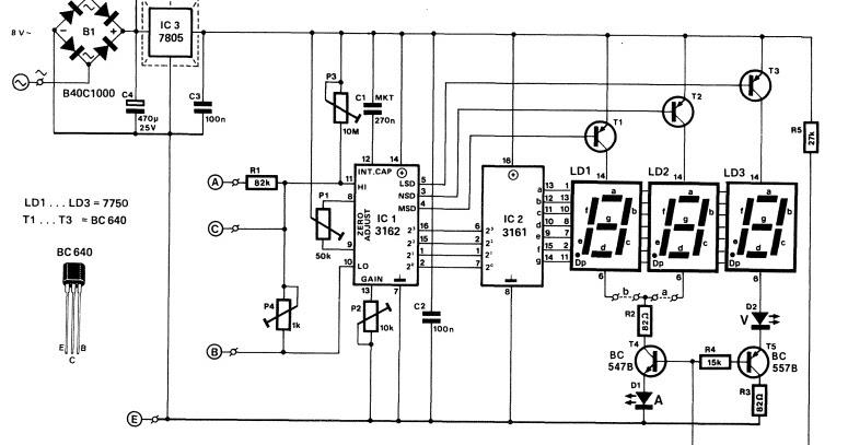 bobo elektronik  voltmeter digital ca3162