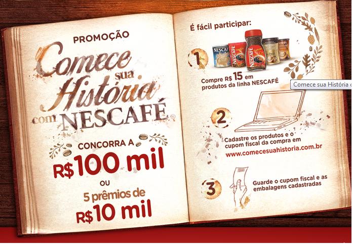 """Promoção - """"Comece sua História com Nescafé"""""""