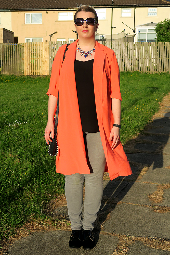 OOTD featuring George at Asda Neon Duster Blazer, Leeds Fashion Blogger