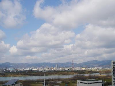 枚方市・意賀美神社・淀川と大空を望む展望