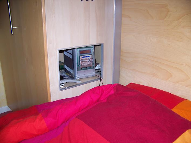 integrated bedside table