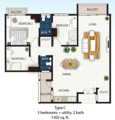 Floor Plan Feng Shui Treetops Residency Off