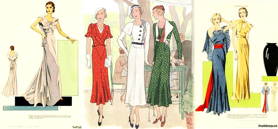 Платья 30-х годов