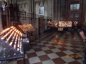 Inside historic St Stephens Cathedral in Vienna.