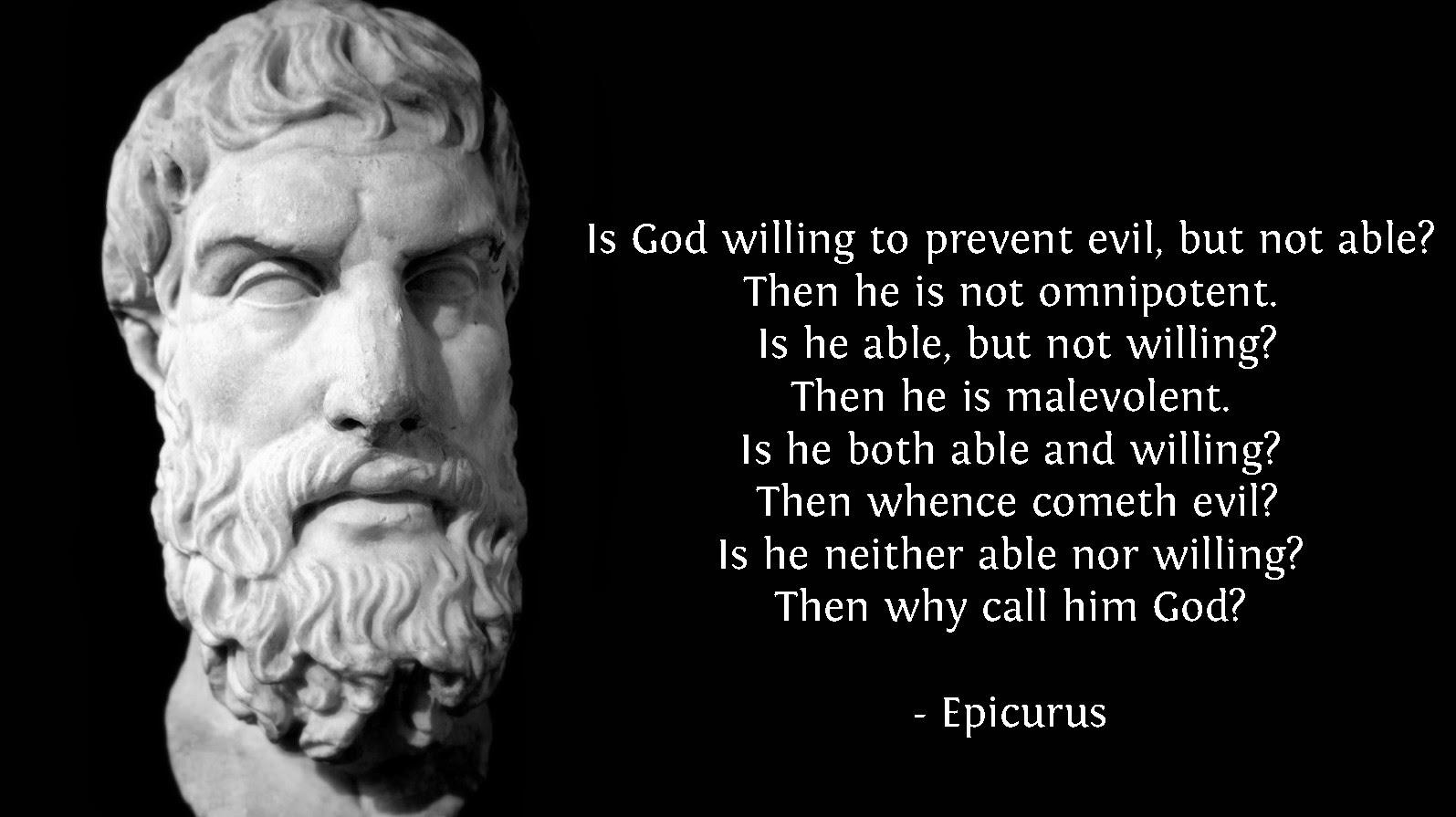 Epicurus Problem of Evil Quote Picture