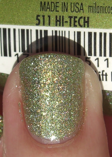 Milani Hi-Tech, Milani Hi-Tech swatch, Milani Hi-Tech nails, Milani Hi-Tech manicure, Milani Hi-Tech nail swatch