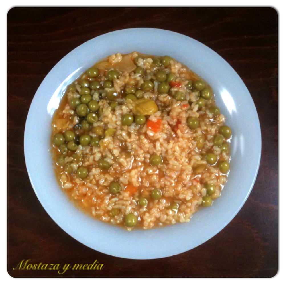 Mostaza y media arroz integral en olla expr s for Arroz blanco cocina al natural