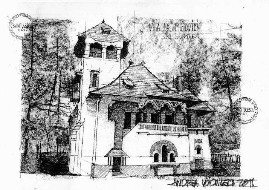 14-Vila-Dr-Minovici-Located-in-Bucharest-Andrea-Voiculescu-Drawings-of-Historic-Architecture-www-designstack-co