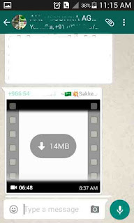 Unloaded whatsapp video file