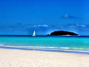 The colour of the beach, of the sky, of the treeseverything was . (whitehaven beach view whitsundays)