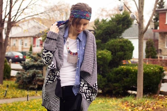 tribal-aztec-cardigan-velvet-pants-flower-headband-shirt
