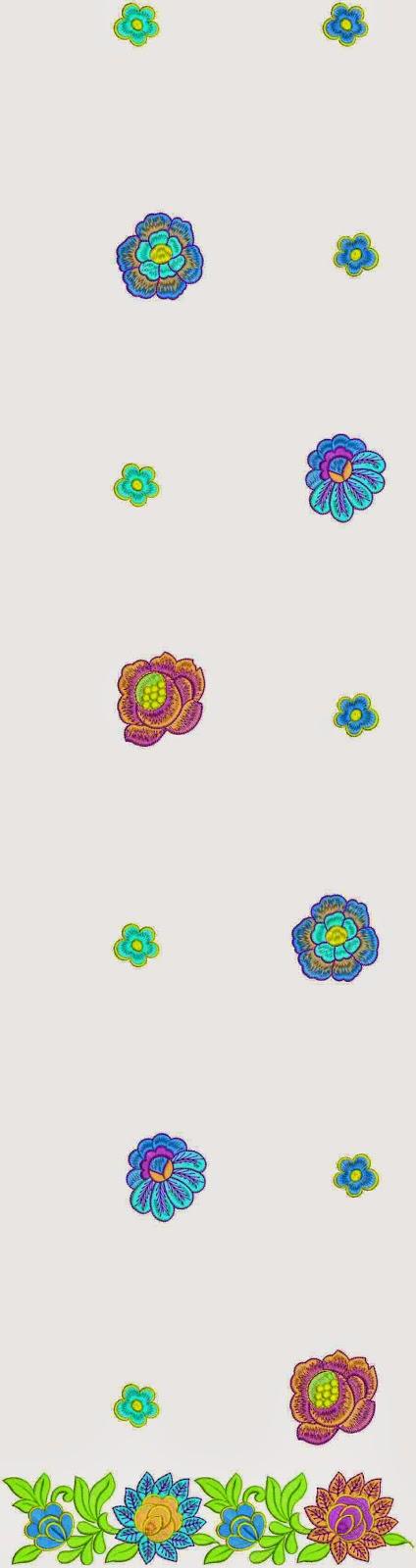 Chinese borduurwerk ontwerp Kurti