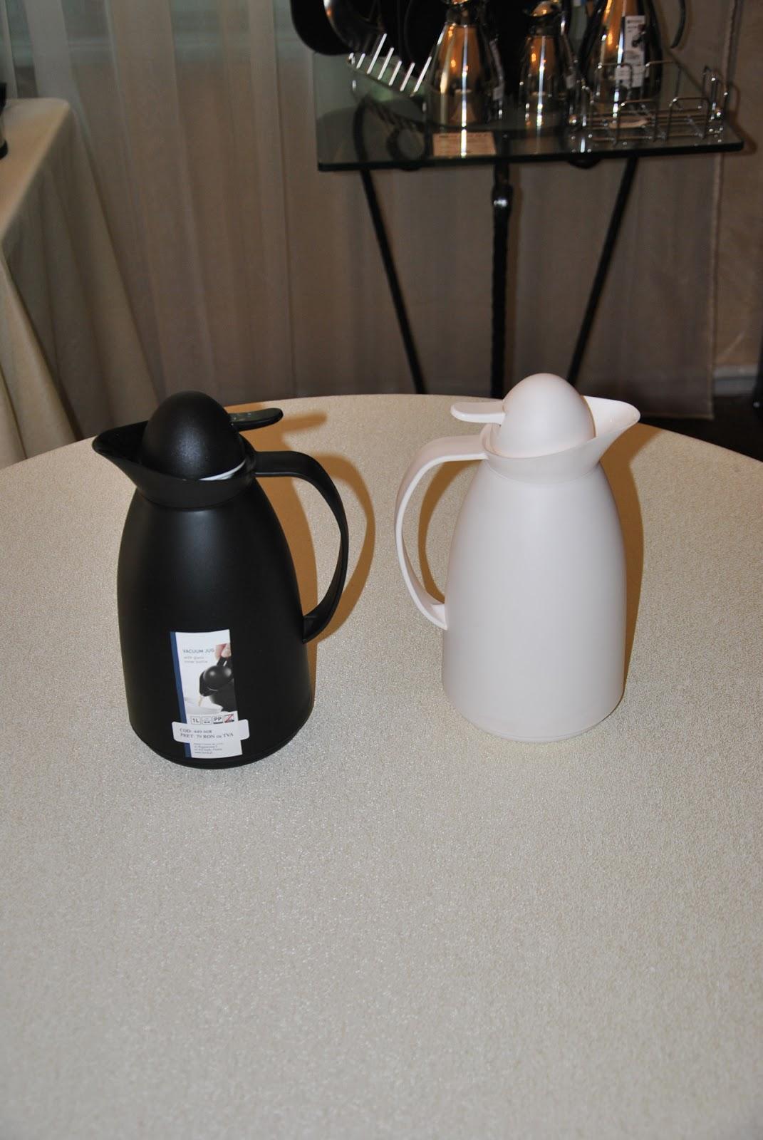 Termos Sticla, Culoare Negru Alb, Termos Pret, Termos Cafea, Cana Termos