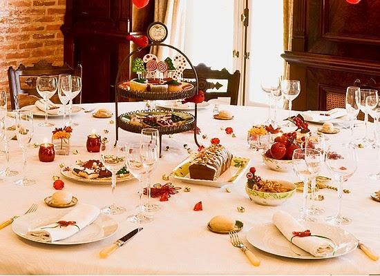 Mis recetas comida hecha en casa decorar tu mesa para - Decoracion de navidad para mesas ...