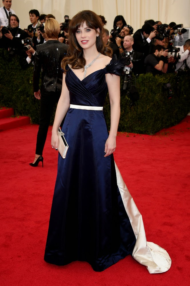 Zooey Deschanel, Met Gala 2014 Red Carpet