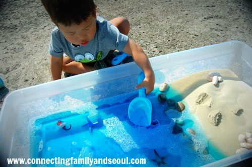 ocean sensory bin
