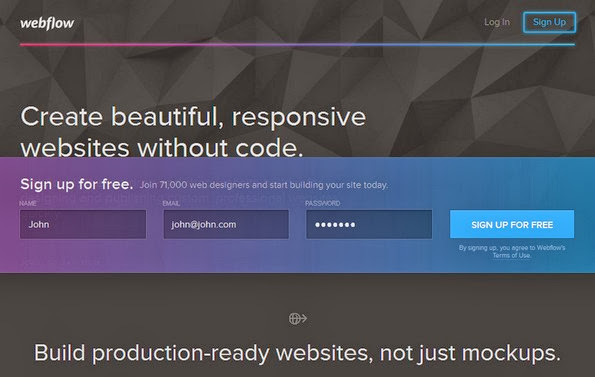 Webflow site building service