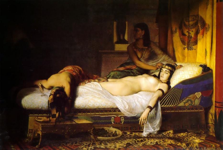 Muerte de Cleopatra. Jean André Rixens (1874)
