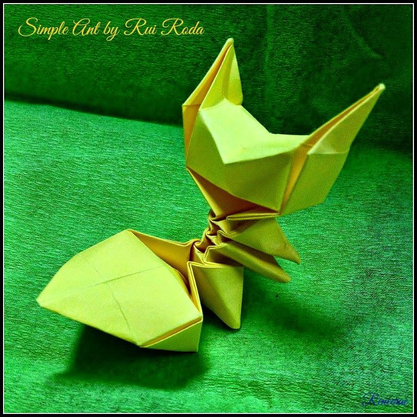 Lifes Simple Pleasure Origami Creations Simple Ant