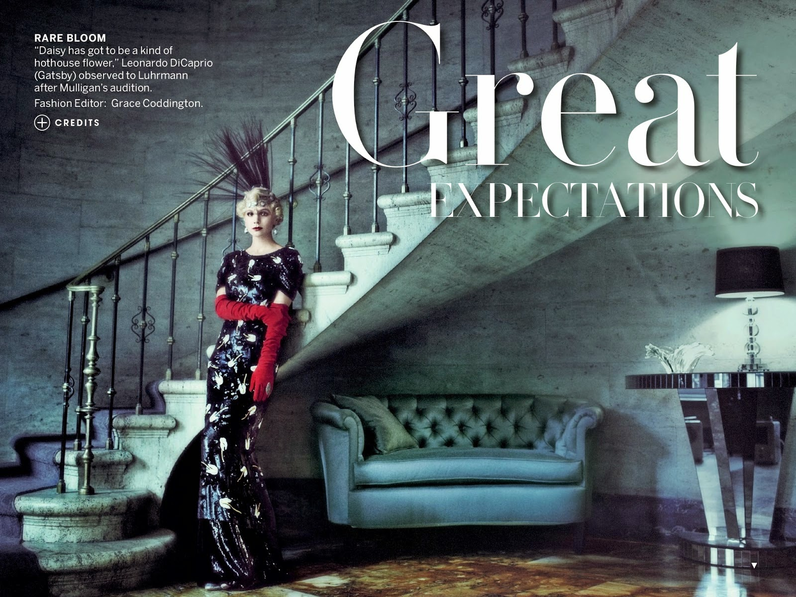 Carey Mulligan in 'Great Expectations' editorial by Mario Testino and styled by Grace Coddington for Vogue May 2013 | Ses Rêveries