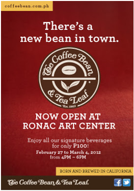 Of Arts and Brews: The Coffee Bean & Tea Leaf® Opens in Ronac Art Center
