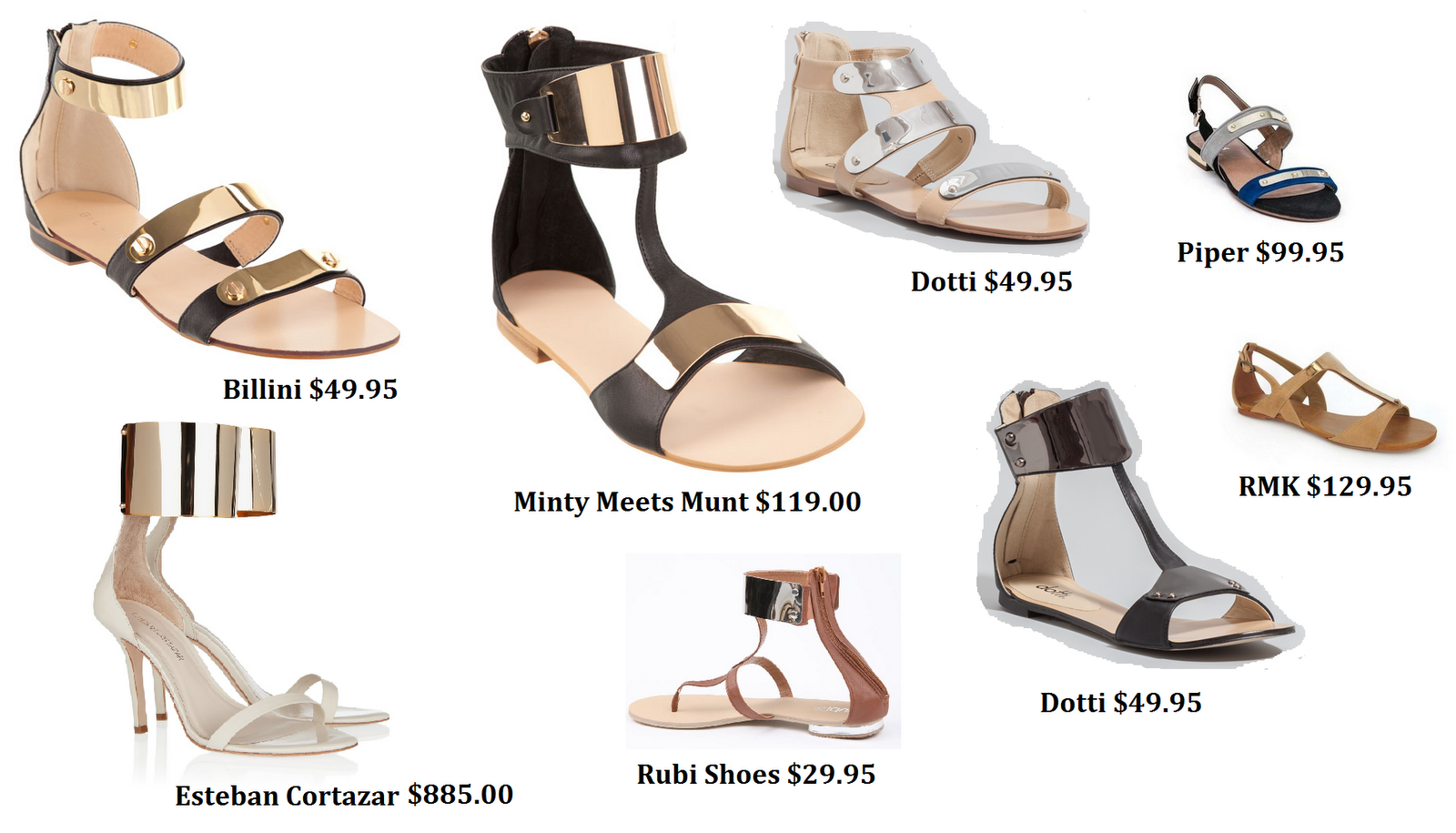 White sandals rubi shoes - Rmk To Dotti Metal Sandles