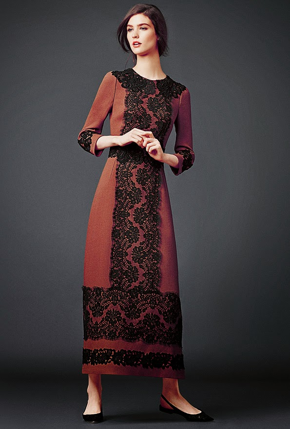 dolce and gabbana maroon burgundy maxi dress modest maxi dress with sleeves stylish beautiful fashion Mode-sty