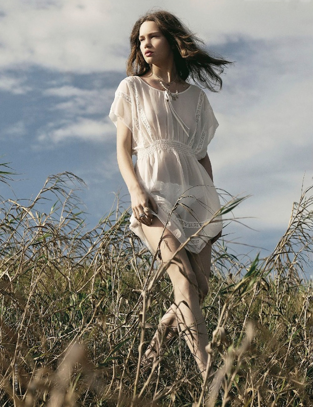Elena Lomkova in Cosi naturale / Grazia Italia July 2012 (photography: Roberto D'este, styling: Santa Bevacqua) via fashioned by love british fashion blog