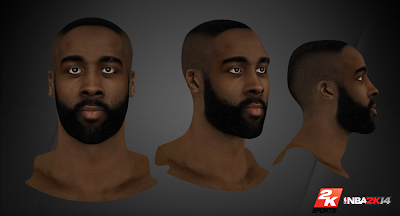 NBA 2K14 James Harden Cyberface Mod