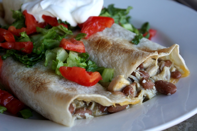 Chicken and Bean Burritos recipe by Barefeet In The Kitchen