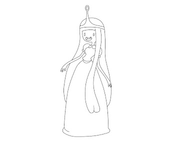 #9 Princess Bubblegum Coloring Page