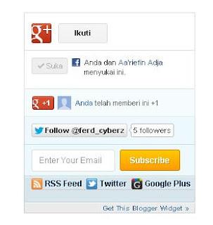 Membuat Widget Social Sharing di Blog