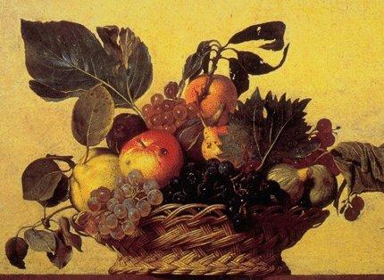 Dada pasticciona autunno pittore lavori ispirati da grandi artisti caravaggio e la canestra for Cesto di frutta disegno