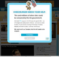 Cheezburger Network's SOPA/PIPA protest page.